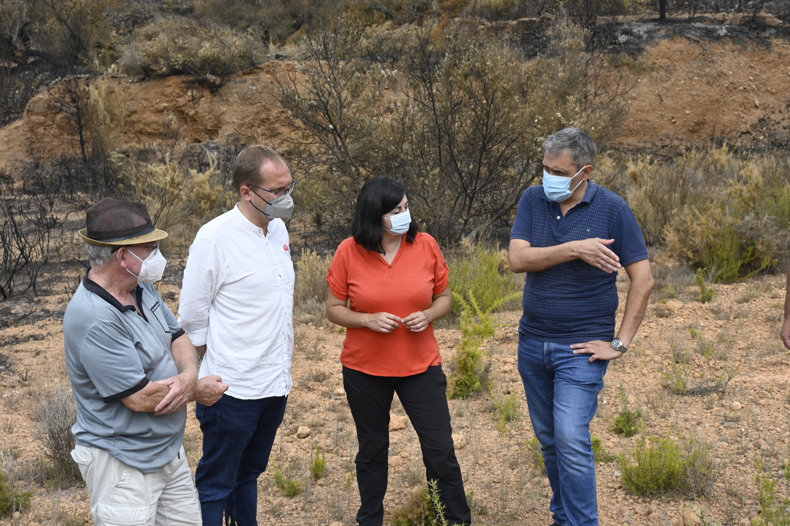 Ana Edo destaca la sensibilidad del Gobierno con la declaración de zona gravemente afectada por los incendios en los municipios de Azuébar, Soneja y Almedijar