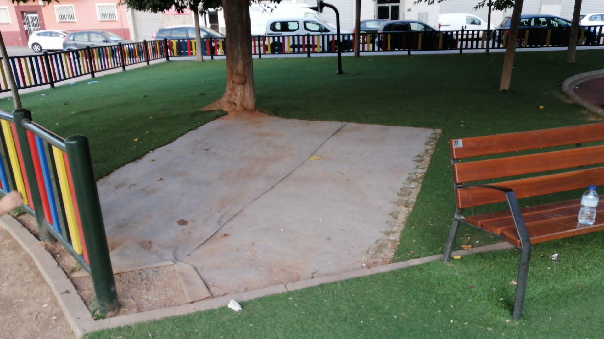 El PP de Burriana urge la mejora del parque de Santa Berta que los vecinos denuncian desde hace semanas