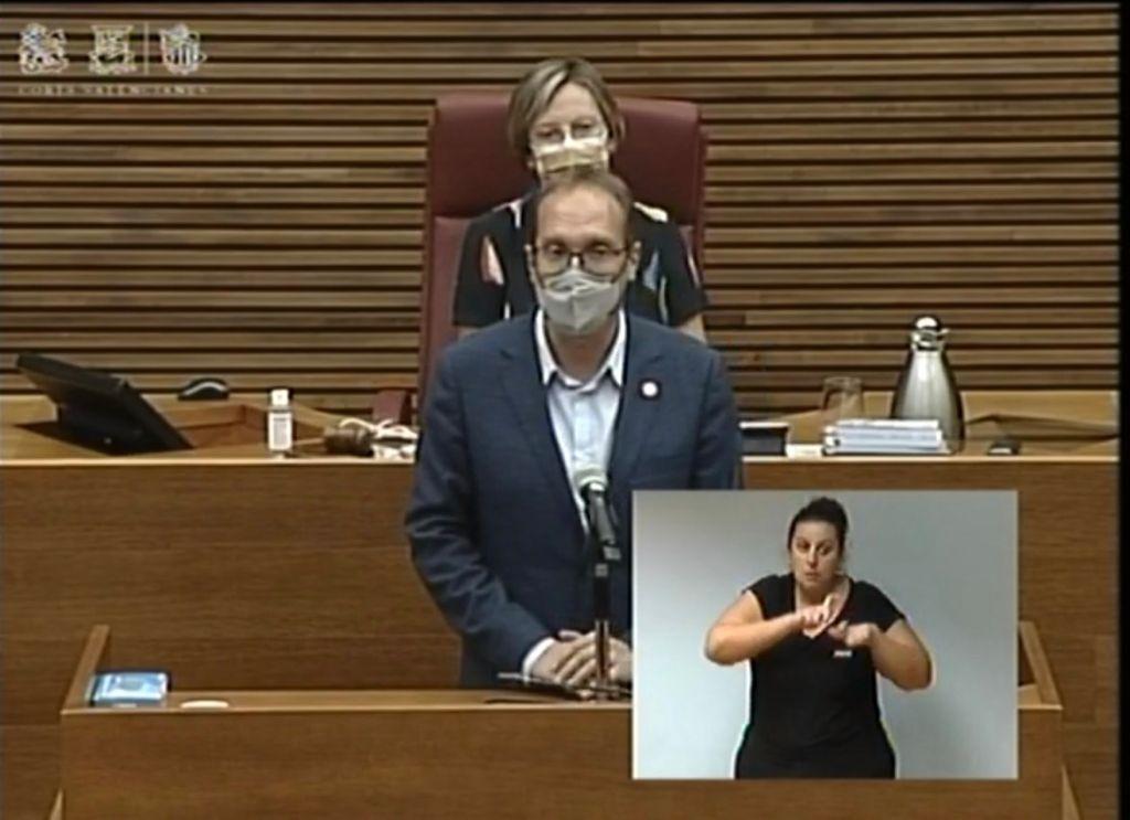 """Blanch (PSPV-PSOE) pide en las Cortes que las ayudas por el incendio en Azuébar, Soneja y Almedíjar """"se ejecuten de manera urgente"""""""