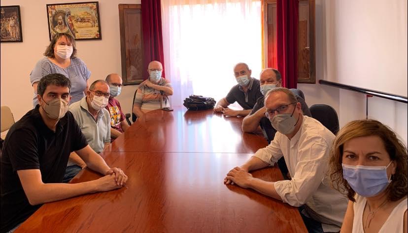 Blanch (PSPV-PSOE) dialoga con cargos socialistas dels Ports sobre las políticas activas de ocupación y las condiciones laborales en las comarcas del interior