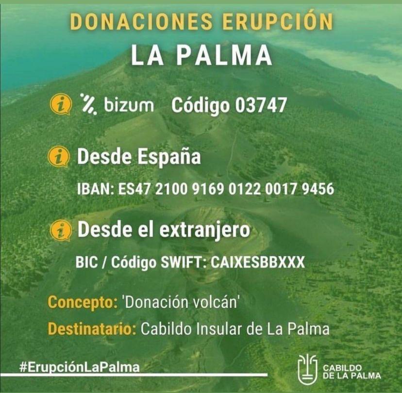 Almenara realiza una donación de 6000 euros para los afectados por la erupción volcánica en La Palma