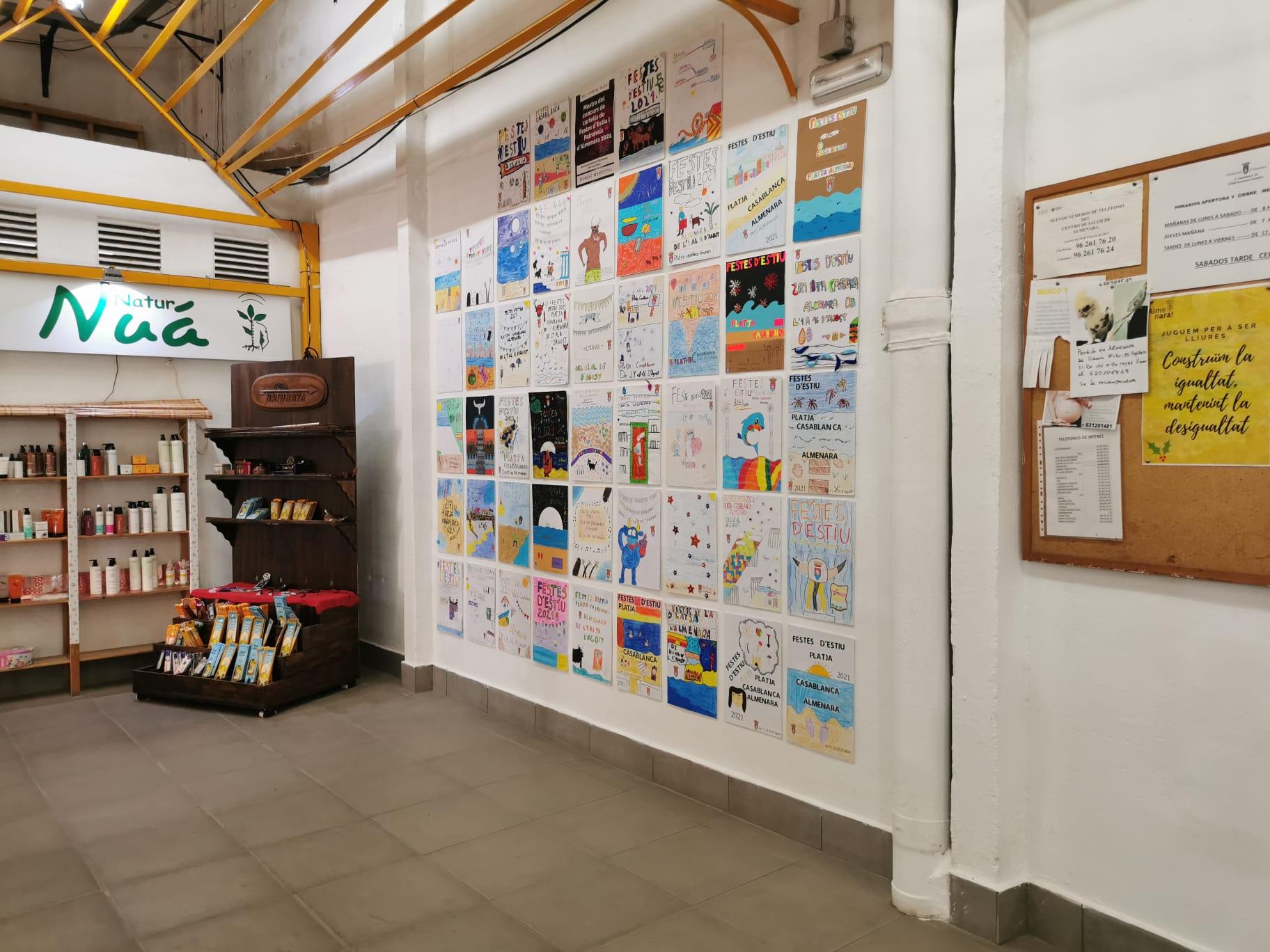 El mercado municipal de Almenara acoge la muestra del concurso de carteles anunciadores