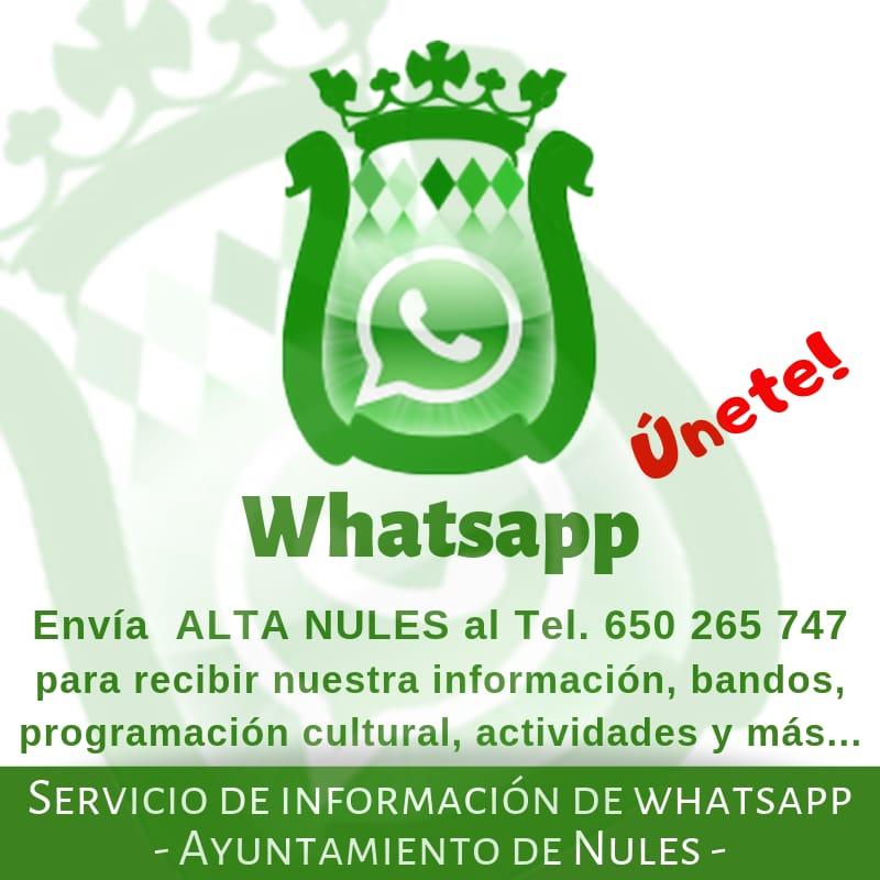 Nules mejora el canal de whatsapp con su automatización
