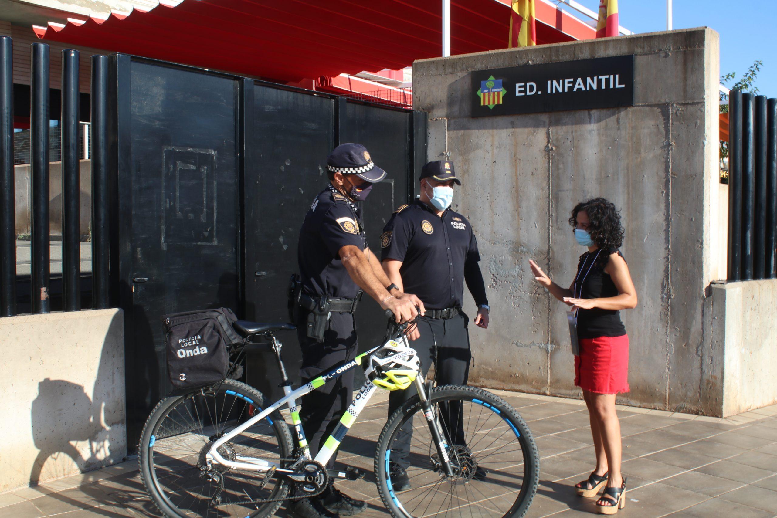La Policía Local de Onda velará por la seguridad de los niños en la vuelta al cole