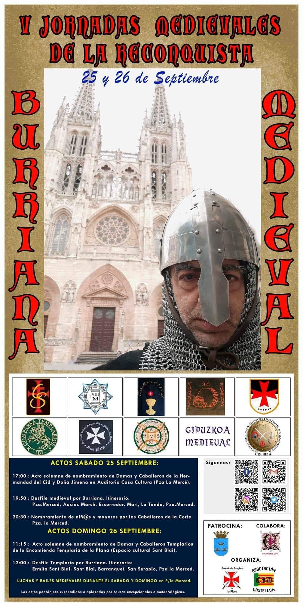 Borriana retornará a la época medieval con las V Jornadas de la Reconquista