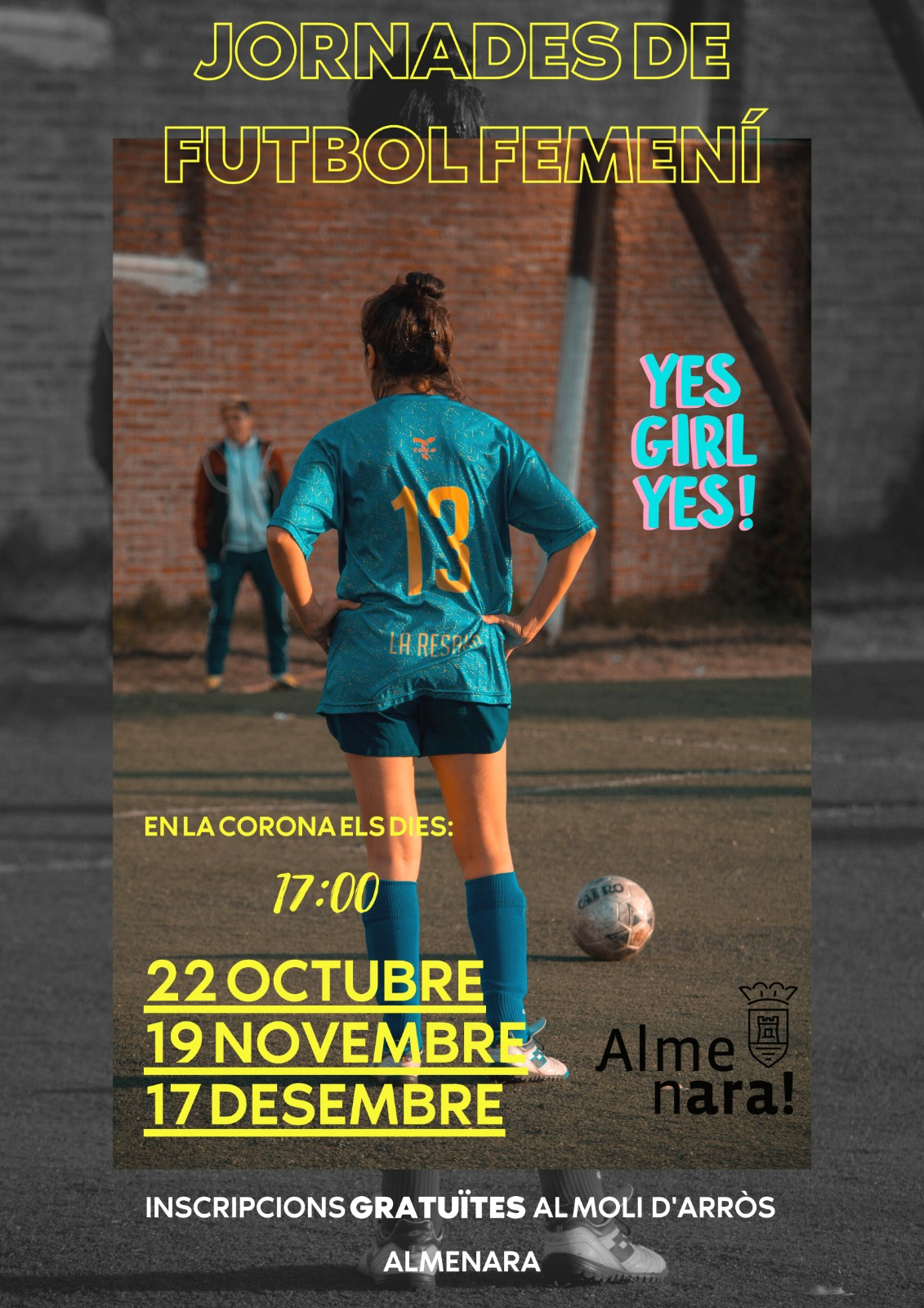 Almenara busca crear dos equipos de fútbol femenino en la localidad