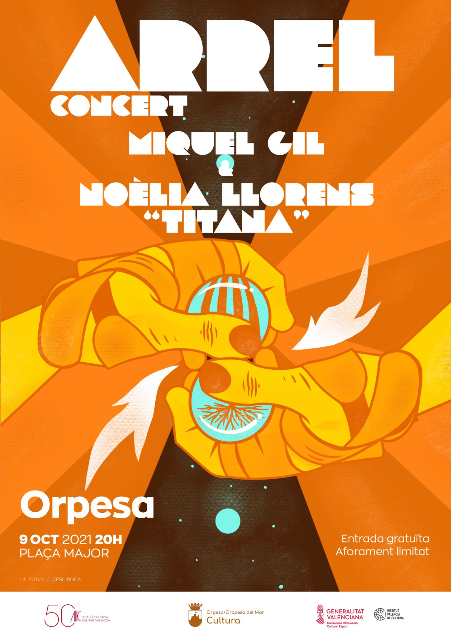 Oropesa del Mar conmemorará el 9 d'Octubre con el desfile, la ofrenda y el espectáculo 'Arrel'