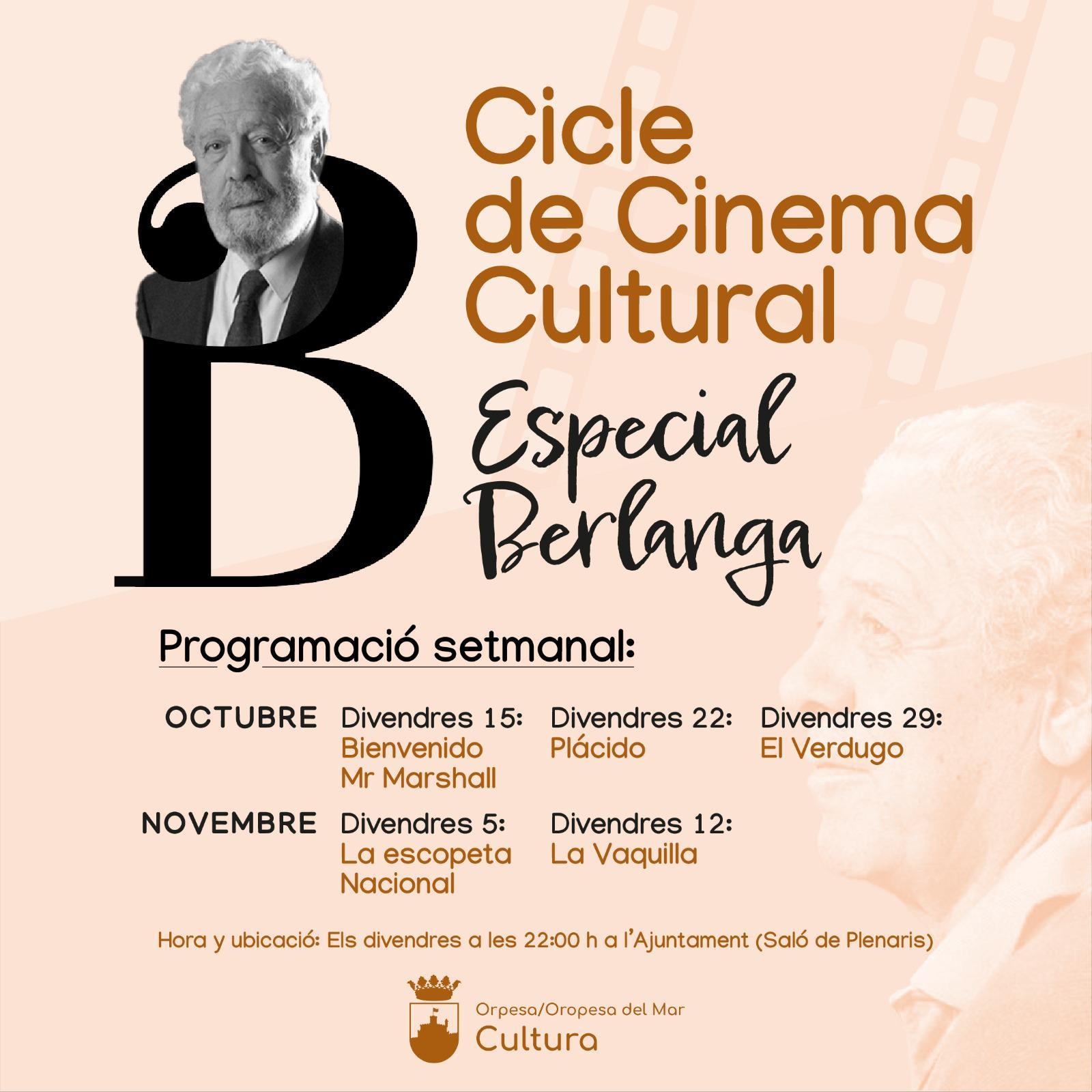 Oropesa del Mar arranca la celebración del Año Berlanga con el ciclo de cine cultural