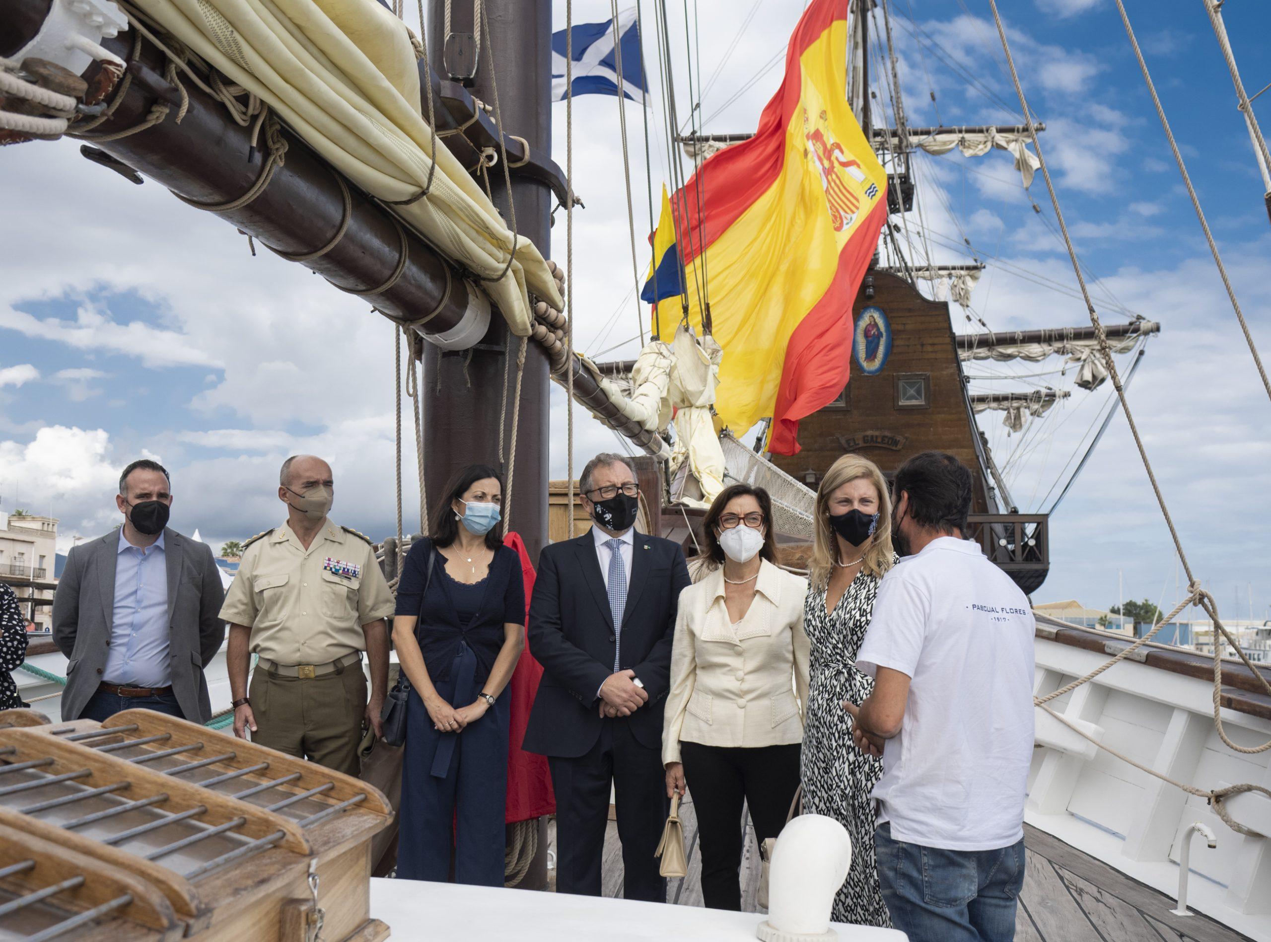 José Martí visita la IV edición de Escala a Castelló, que cuenta con cuatro navíos históricos en PortCastelló
