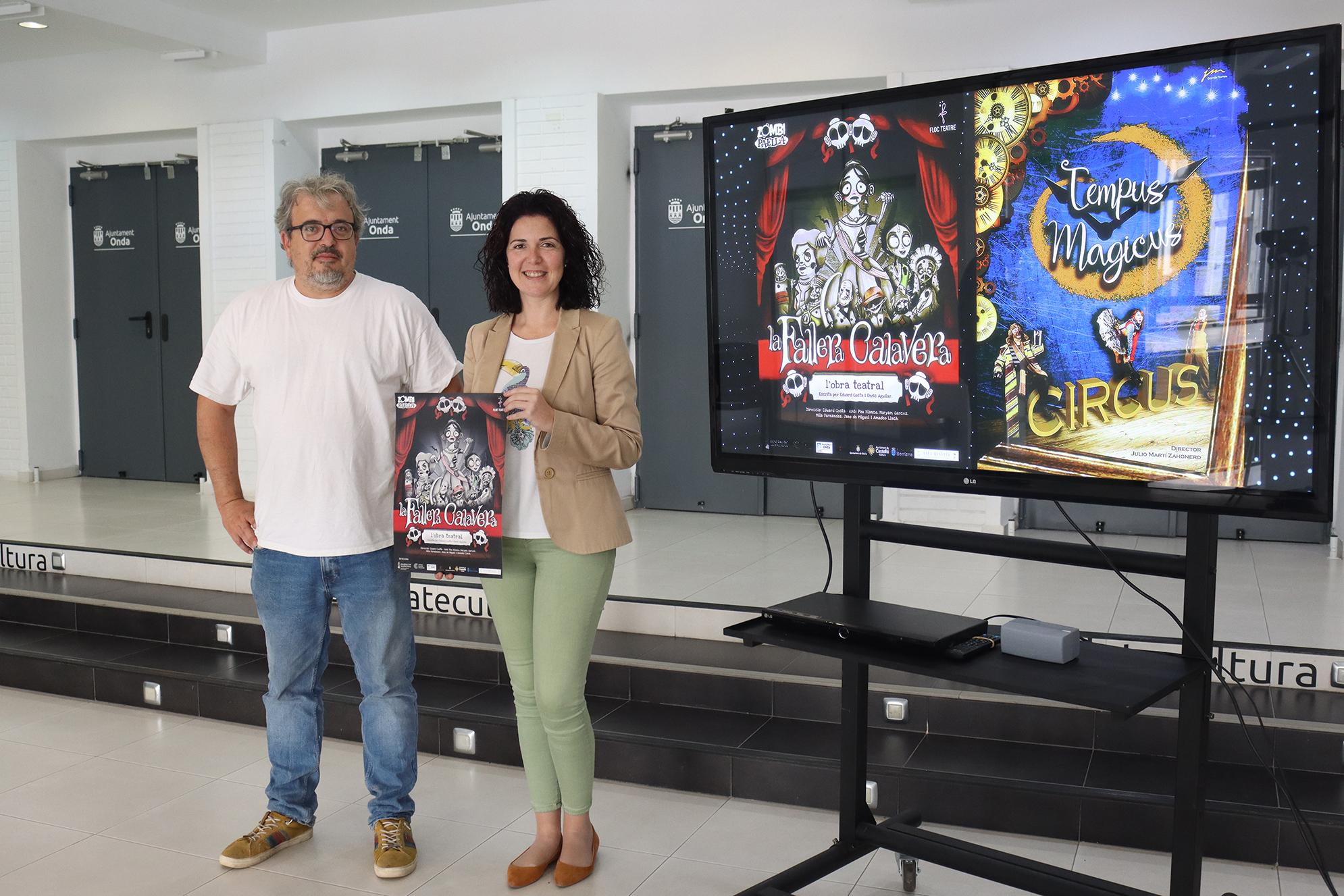 El Teatro Mónaco de Onda estrenará la obra teatral de la Fallera Calavera y trae al circo Tempus Magicus