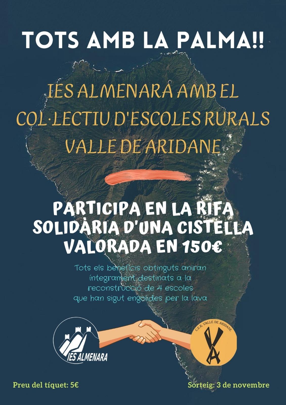 El IES Almenara realiza una acción solidaria para ayudar al colectivo de escuelas rurales de Aridante en La Palma
