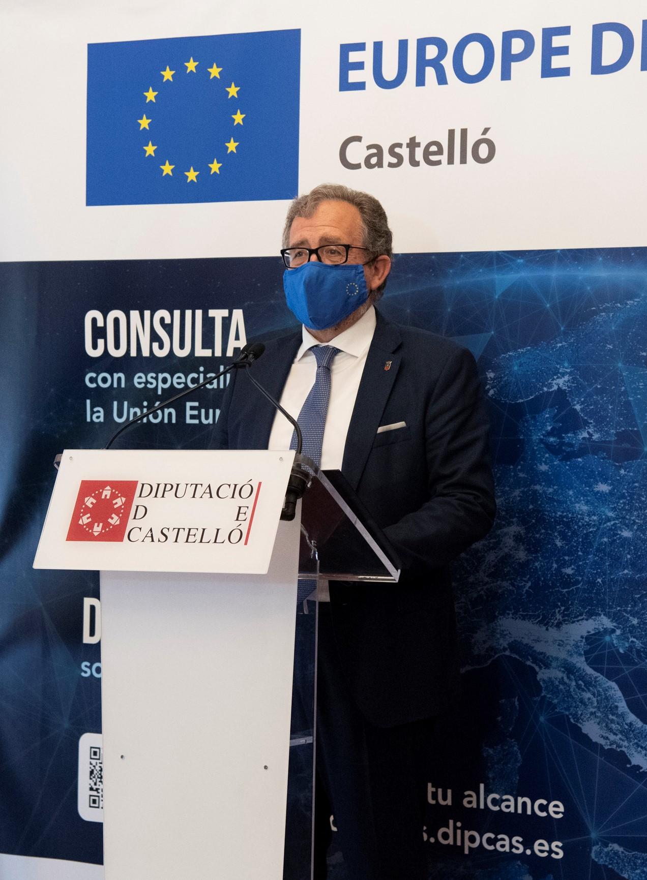 La Diputación de Castellón financia con 100.000 euros la asistencia técnica de la FVMP para fondos europeos a los ayuntamientos de menos de 5.000 habitantes