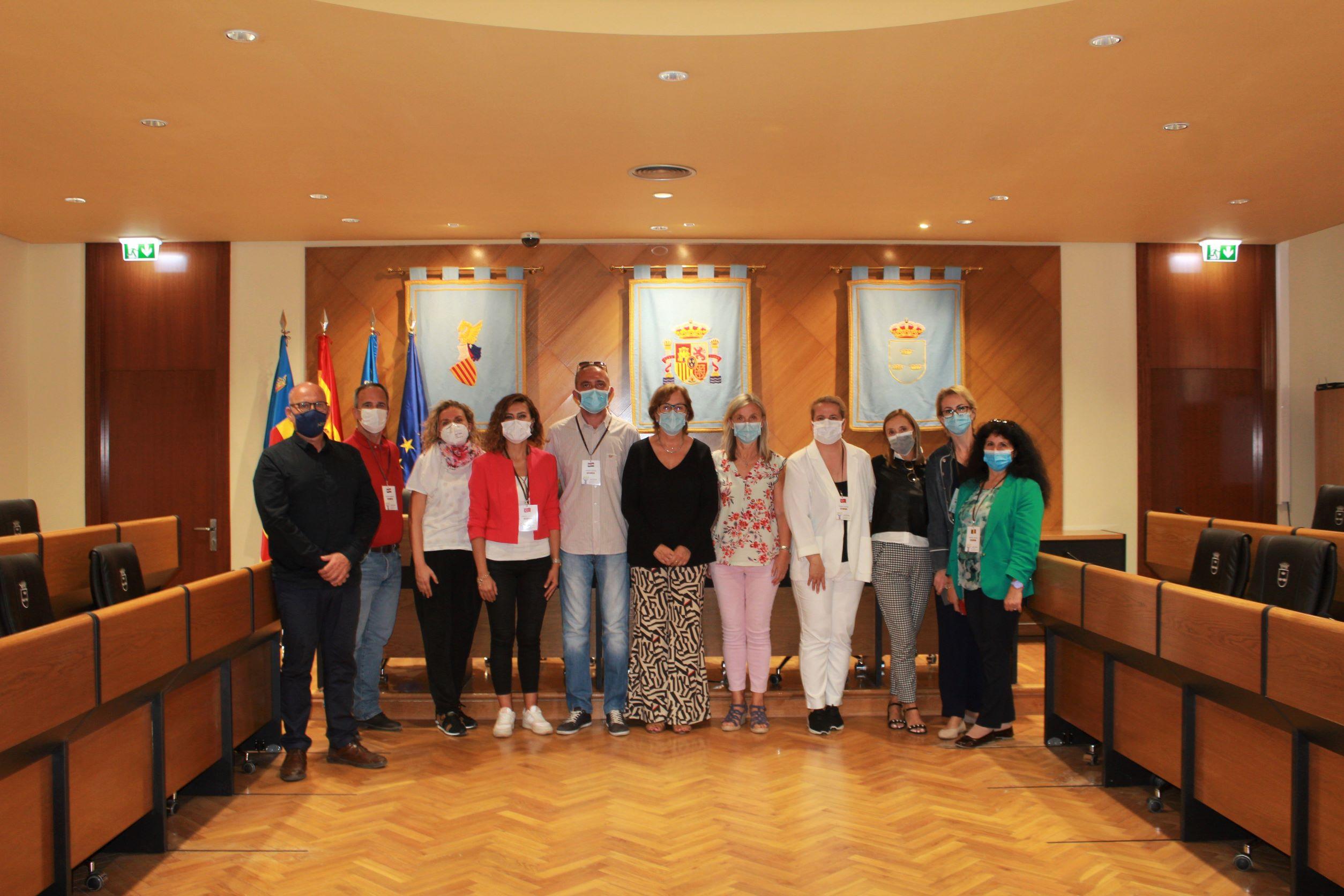 Profesorado del programa de intercambio Erasmus+ visita el Ayuntamiento de Burriana