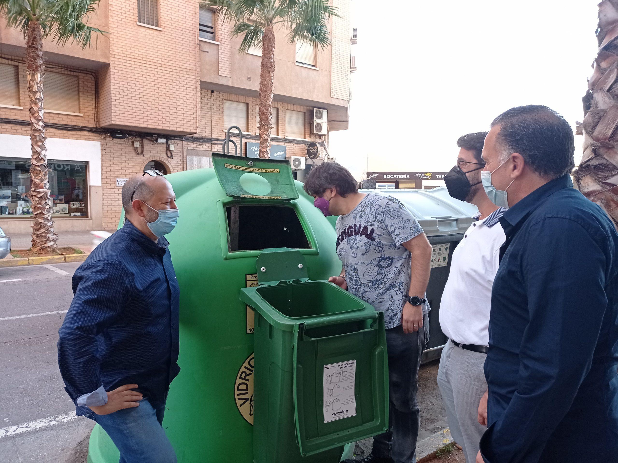 Vila-real incentivarà i facilitarà el reciclatge del vidre als establiments d'hostaleria